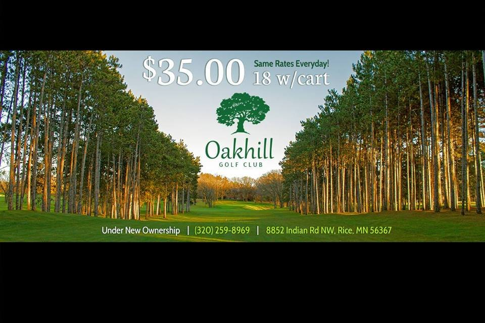 Oak Hill Golf Club: 8852 Indian Rd NW, Rice, MN
