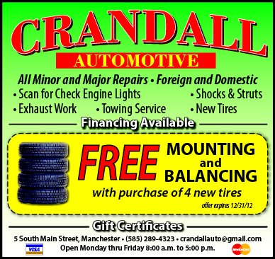 Crandall Automotive: 3 S Main St, Manchester, NY