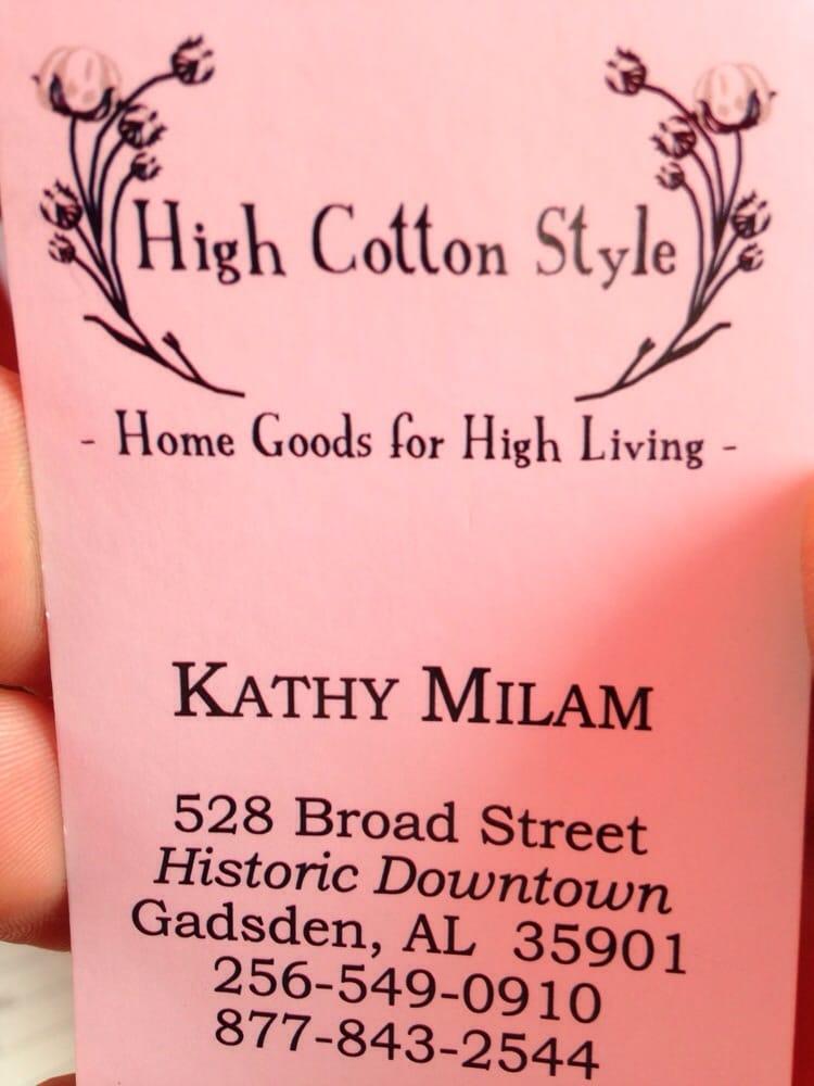 High Cotton Style: 528 Broad St, Gadsden, AL