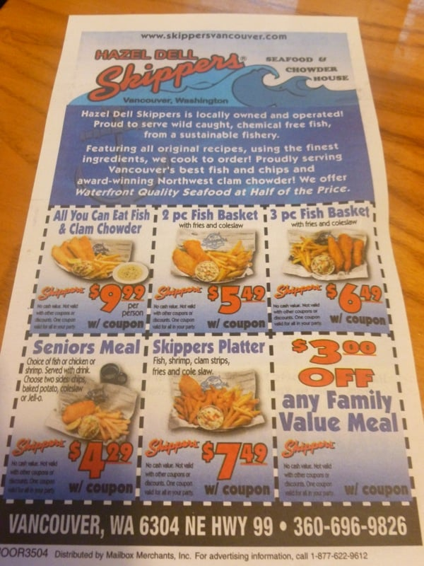 Skippers restaurant coupons