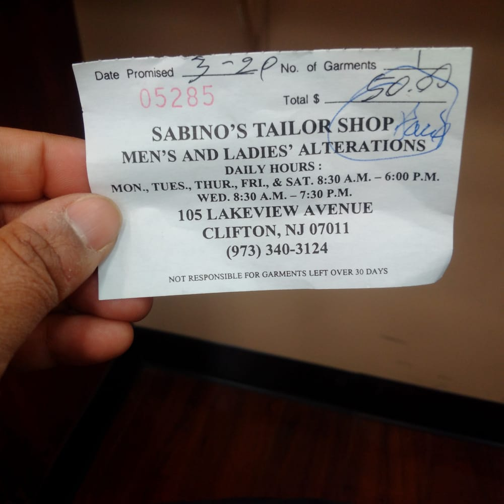 Sabino's Tailor Shop