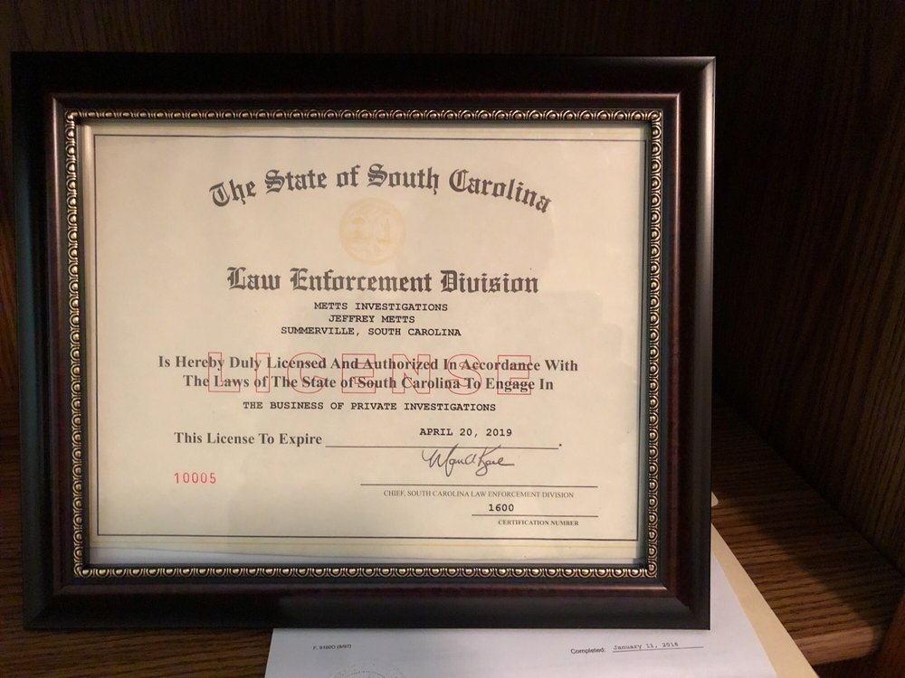 Metts Investigations: Summerville, SC