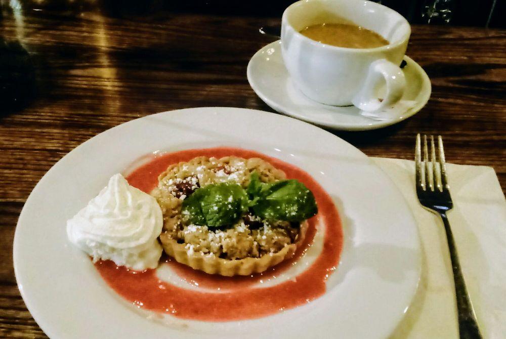 Raspberry Tart & Silverback Coffee(single origin from Rwanda). - Yelp