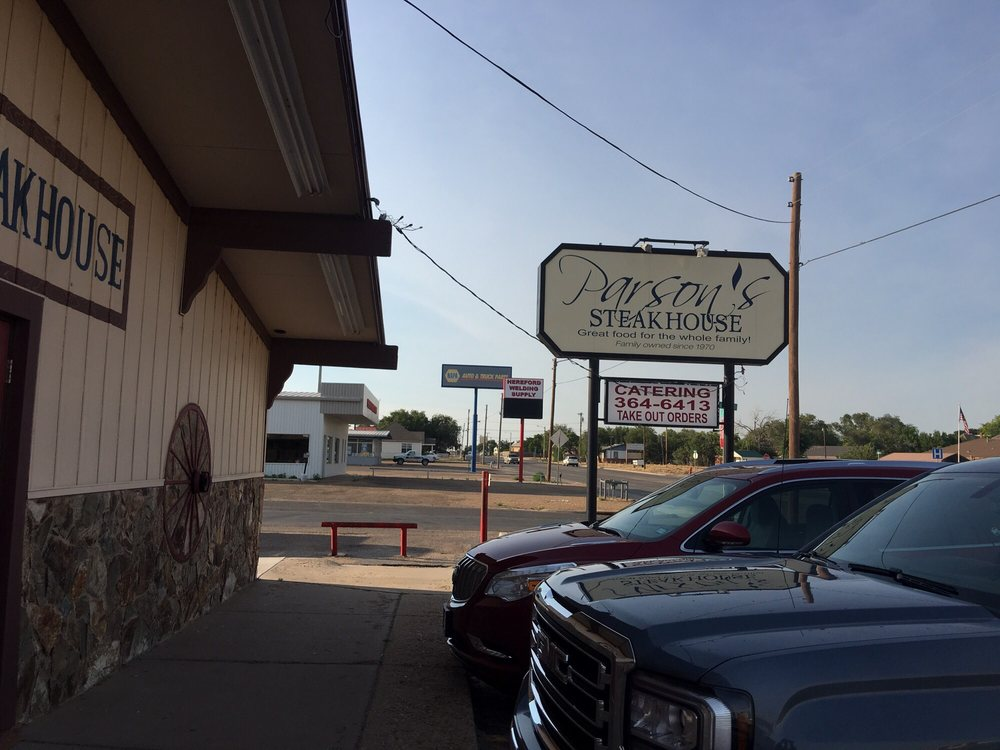 Parson's Steakhouse: 215 S 25 Mile Ave, Hereford, TX