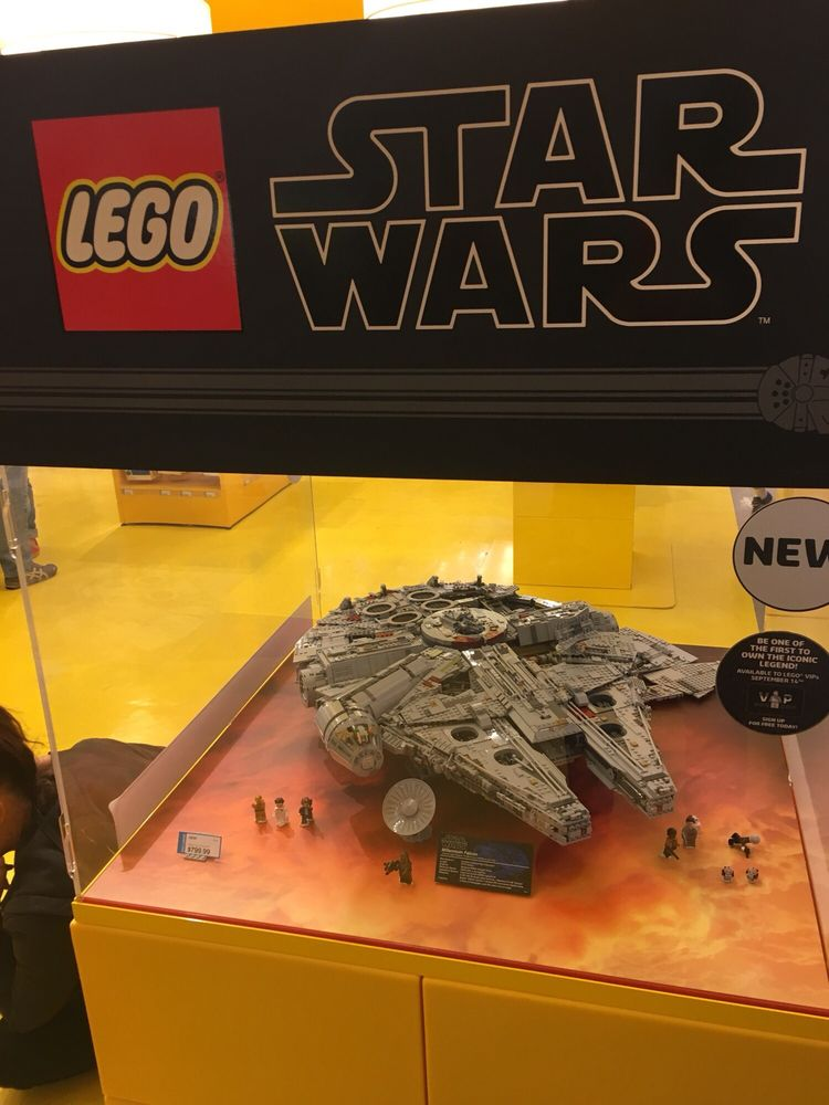 Millennium Falcon on display $799 plus tax all sold out; currently a ...