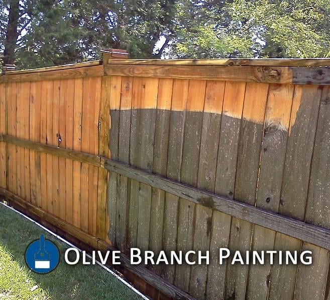 How to clean painted wood fence