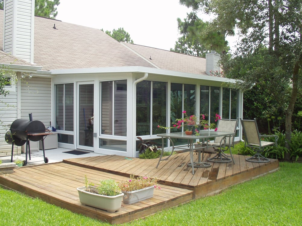 Aluminum sunroom yelp for Backyard sunroom