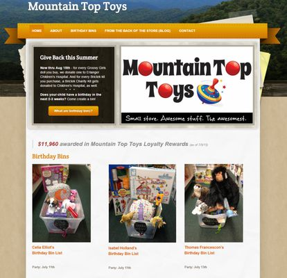 Above Mountain top toys happiness has