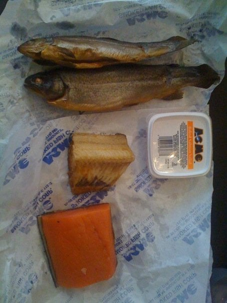 Brook trout cod salmon and salmon salad yelp for Acme smoked fish