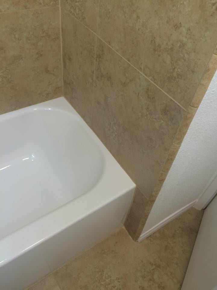 Bathroom Tub Replacement Tile Floor And Shower Baseboard Drywall