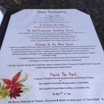 Bon Appetit Restaurant Dunedin Fl Menu