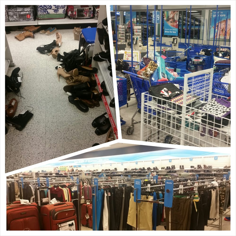 Messy Aisles And Lack Of Men's Clothing