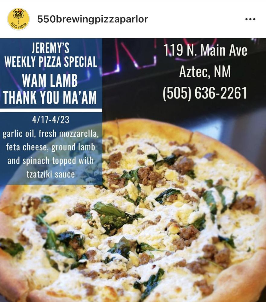 550 Brewing & Pizza Parlor: 119 N Main, Aztec, NM