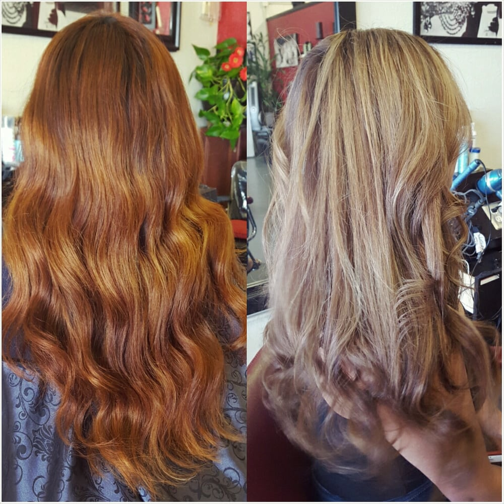 Before and after color case change and heavy partial - The catwalk hair salon ...