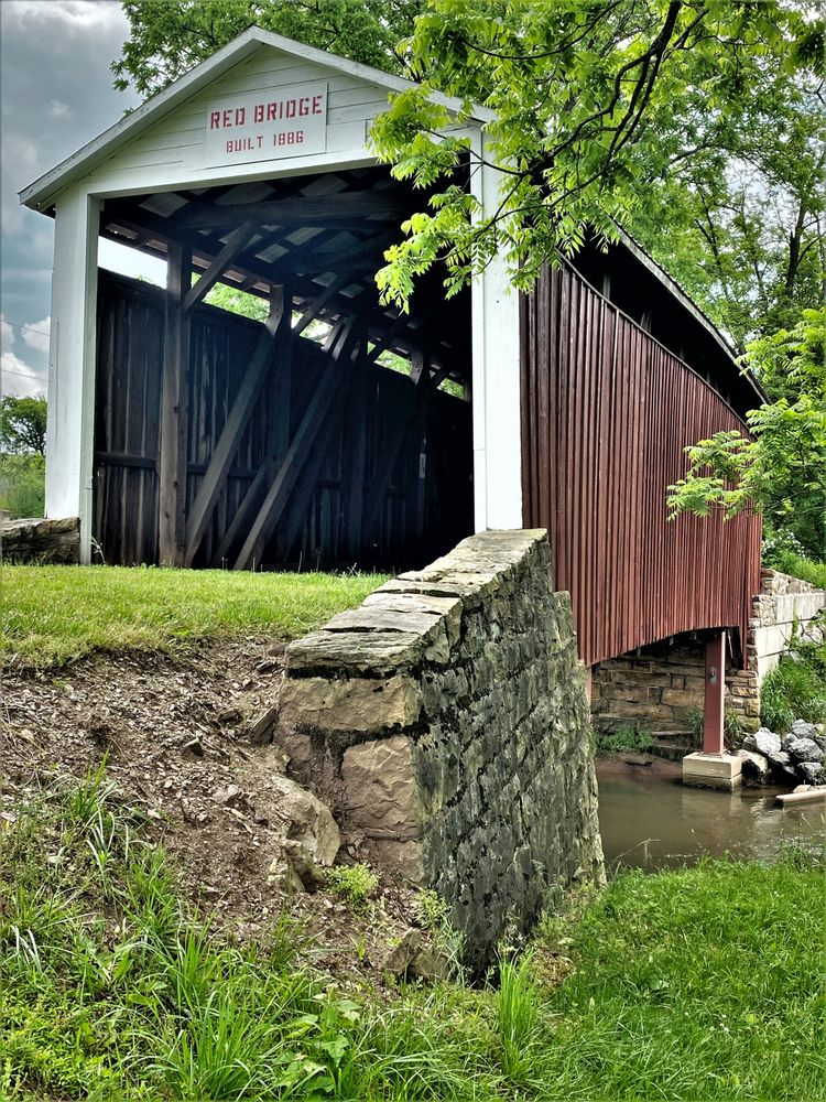 Red Covered Bridge: Red Bridge Rd, Liverpool Township, PA