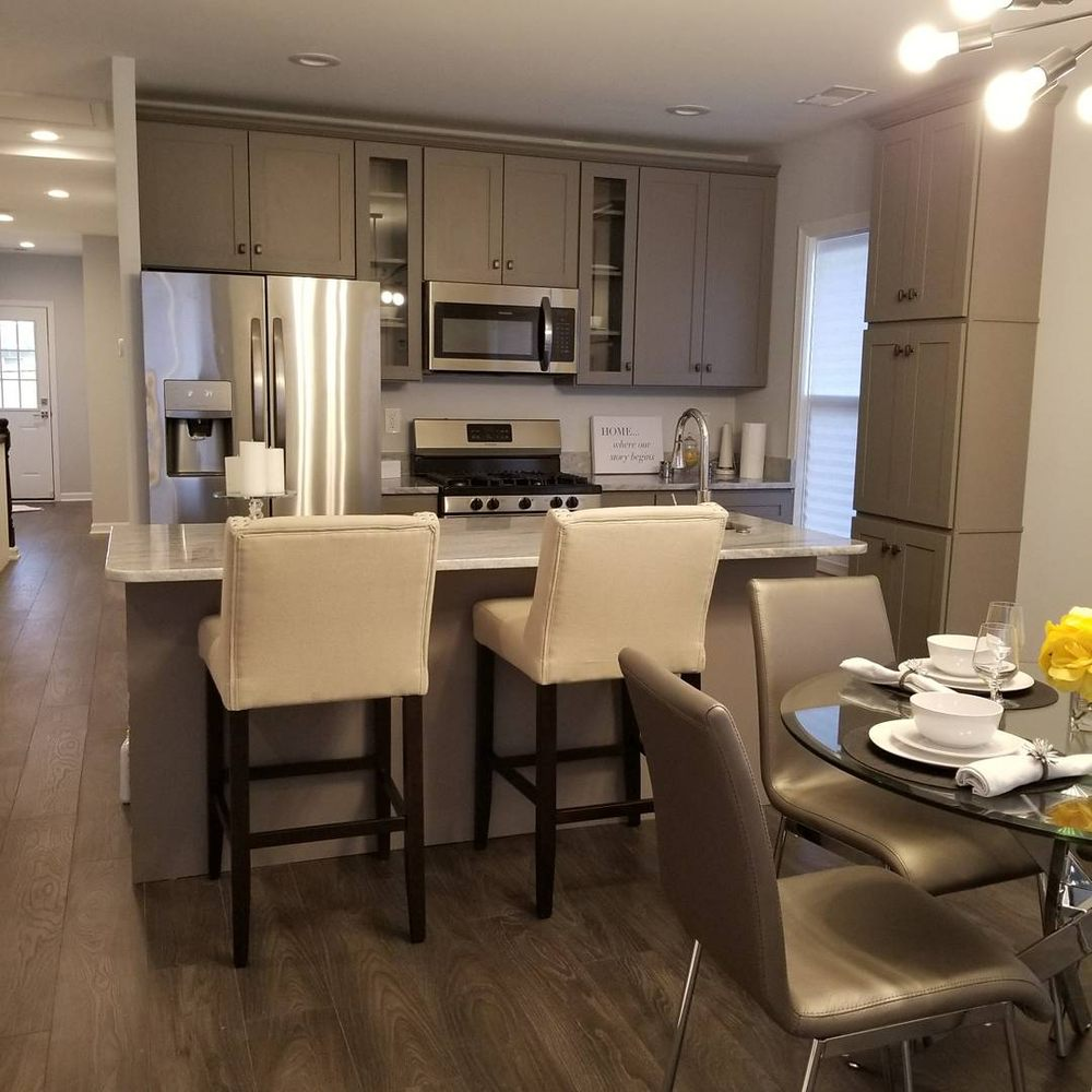 Used Kitchen Cabinets In Maryland: A Beautiful Platinum Grey Cabinets.