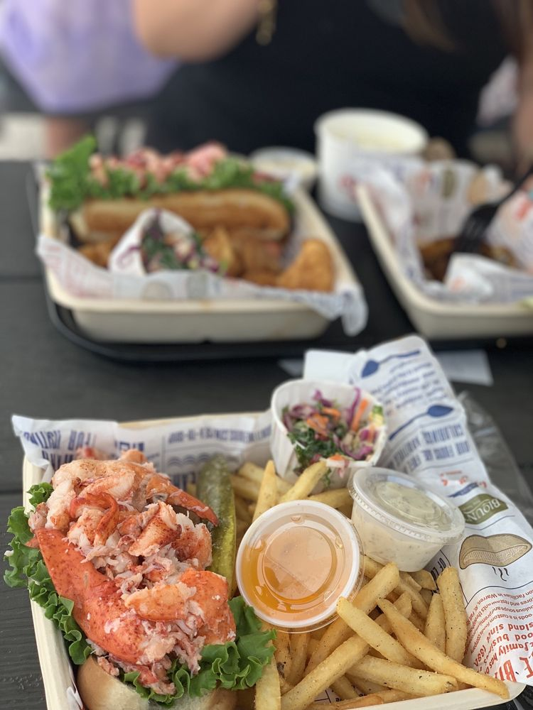Food from Blount Clam Shack on the Waterfront