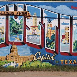 Greetings from austin postcard mural 49 photos 31 for Austin postcard mural