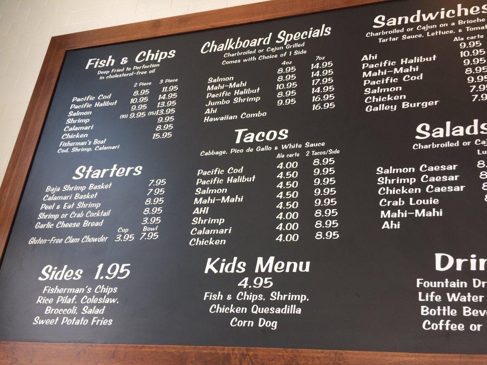 Menu board yelp for Little fish menu