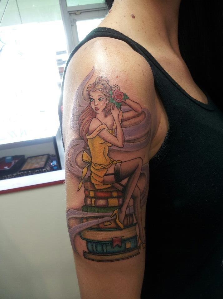Belle pinup tattoo by melissa yelp for Tattoo artist in fort lauderdale