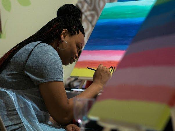 Nicki's painting on the gogh: Macon, GA