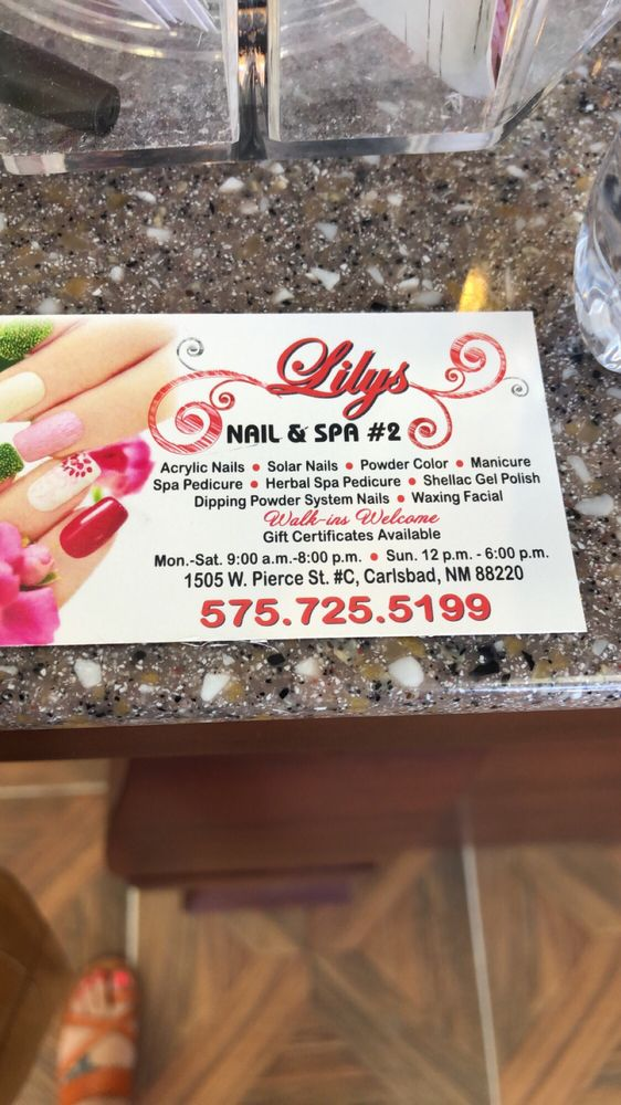 Lily's nails & spa 2: 1501 W Pierce St, Carlsbad, NM