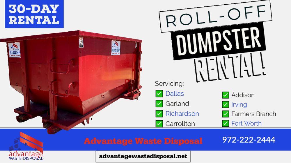 Advantage Waste Disposal Dumpster Rental: Allumbaugh Dr, Balch Springs, TX