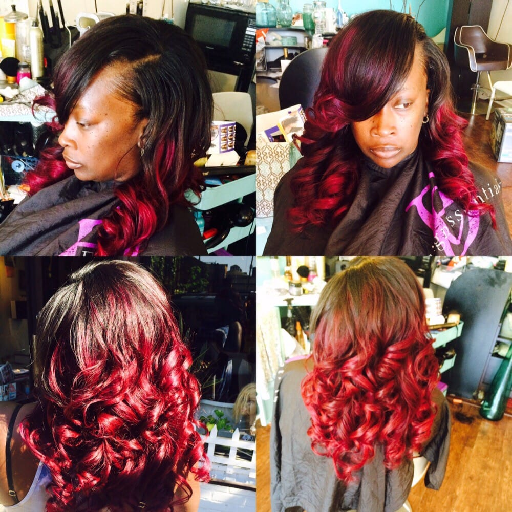 Full Weave Minimal Leave Out Custom Color Hair Provided By Me