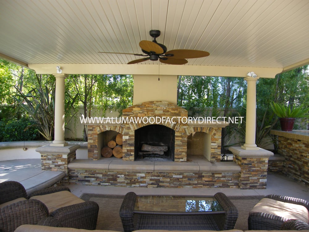 Alumawood Newport Flat Pan Freestanding Patio Cover In