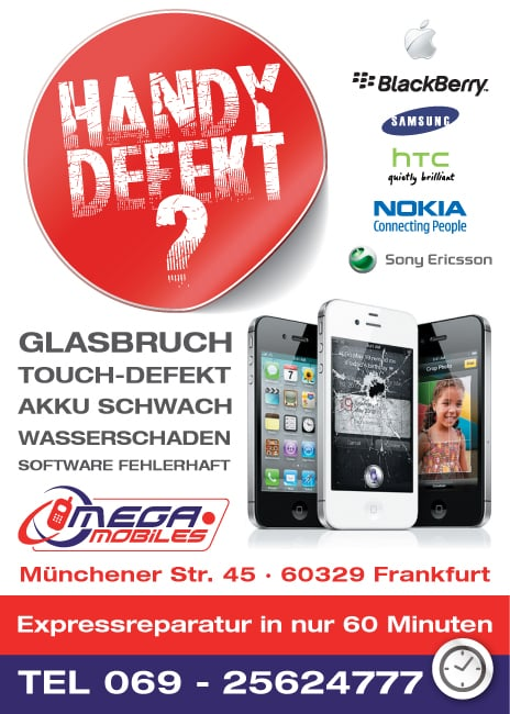 mega mobiles gmbh handy smartphone m nchener str 45 bahnhofsviertel frankfurt am main. Black Bedroom Furniture Sets. Home Design Ideas