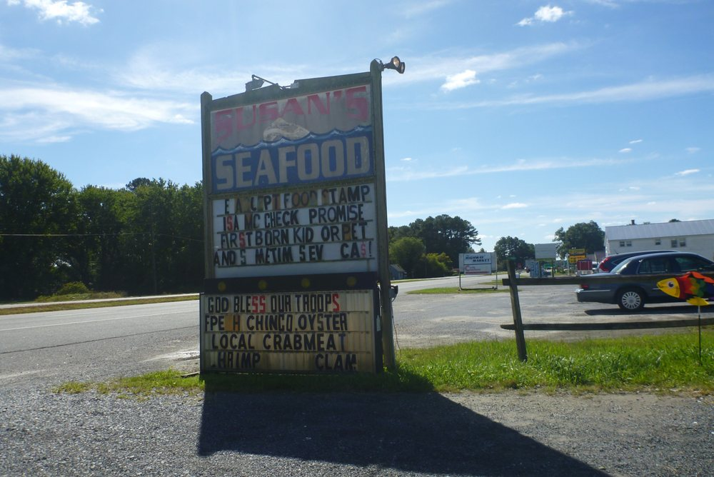 Susan's Seafood: 4222 Lankford Hwy, New Church, VA