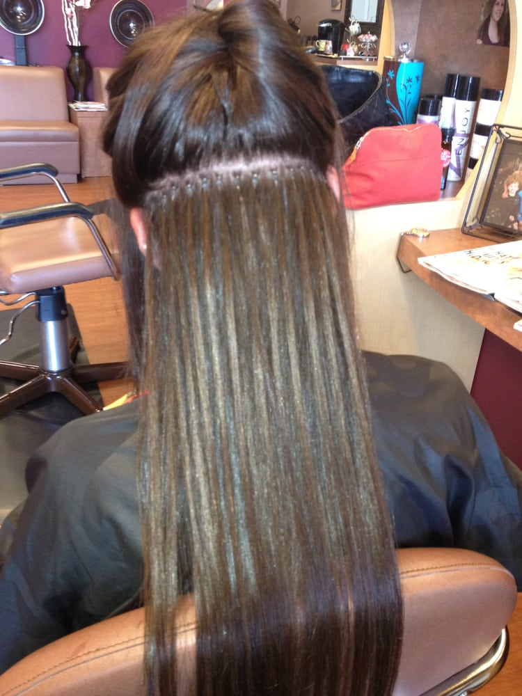 100 Human Hair Extensions Using The Micro Bead Method Which Is The