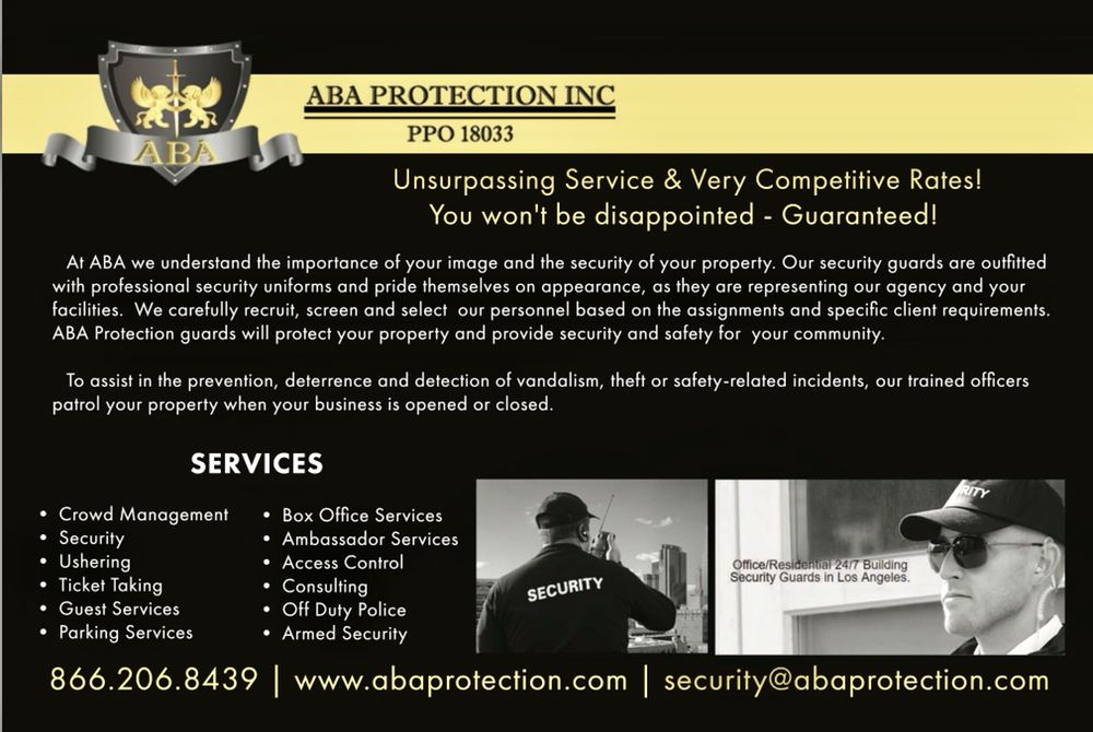 ABA Protection - Security Services - Castaic, CA - Phone