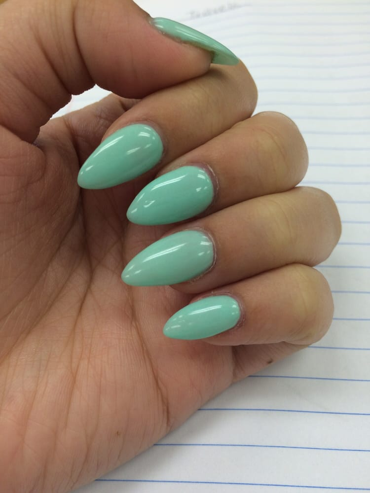 Stiletto nails done by Cindy & they are perfect shape I want - Yelp