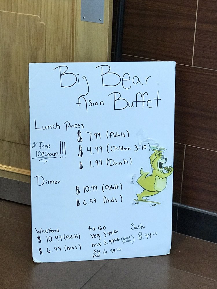 Big Bear Asian Buffet: 401 Maple St, Carrollton, GA