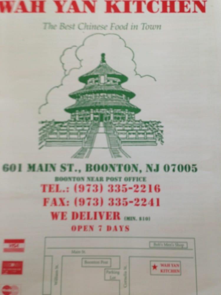 Chinese Food Boonton Nj Menu