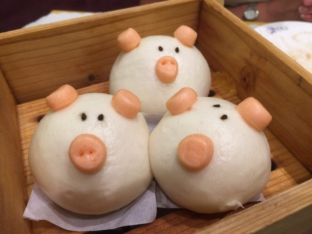 Custard filled piggies