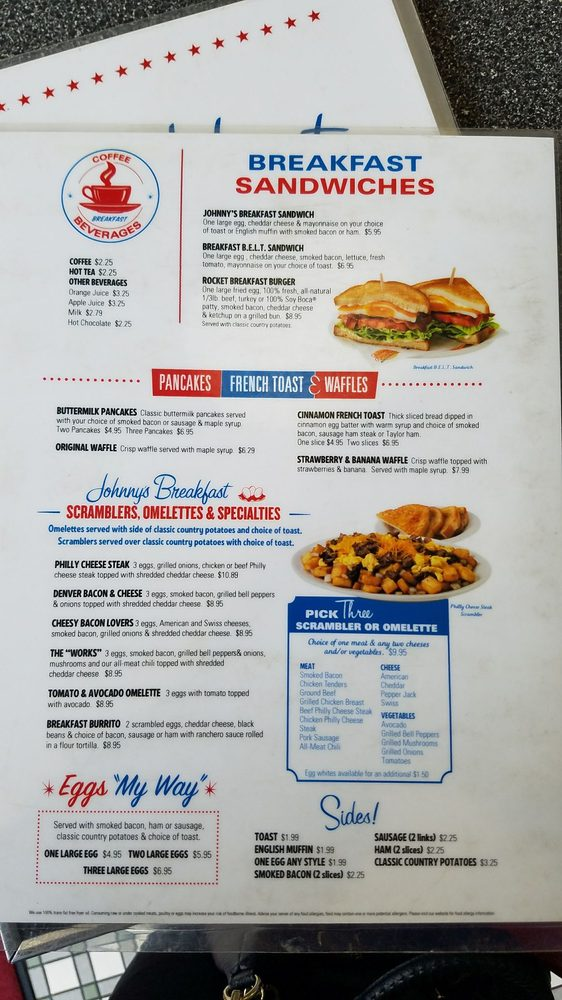 Camarillo's Johnny Rockets' breakfast menu. - Yelp