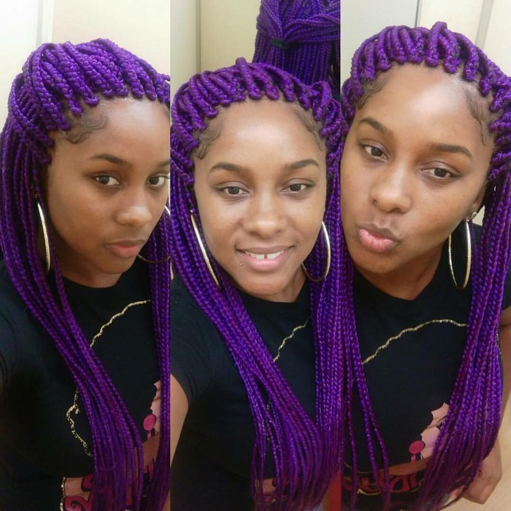 Purple Box Braids Yelp