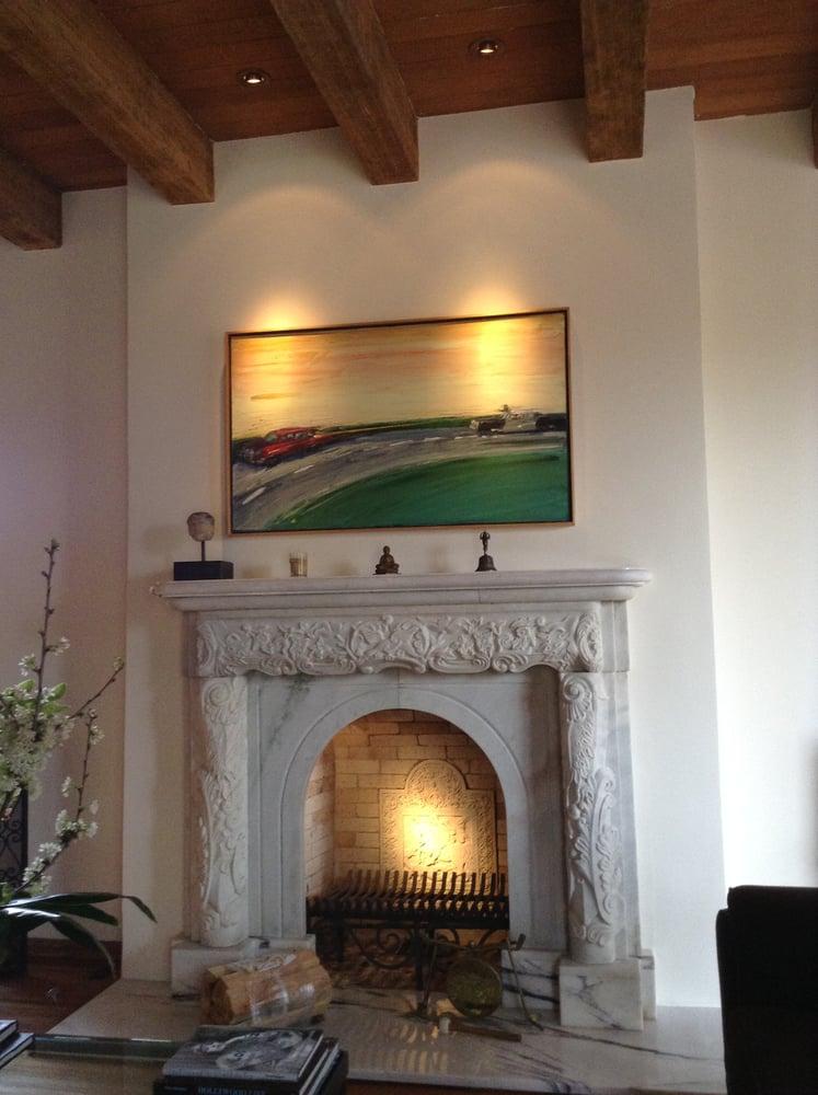 Hidden Art Light Inside Fireplace