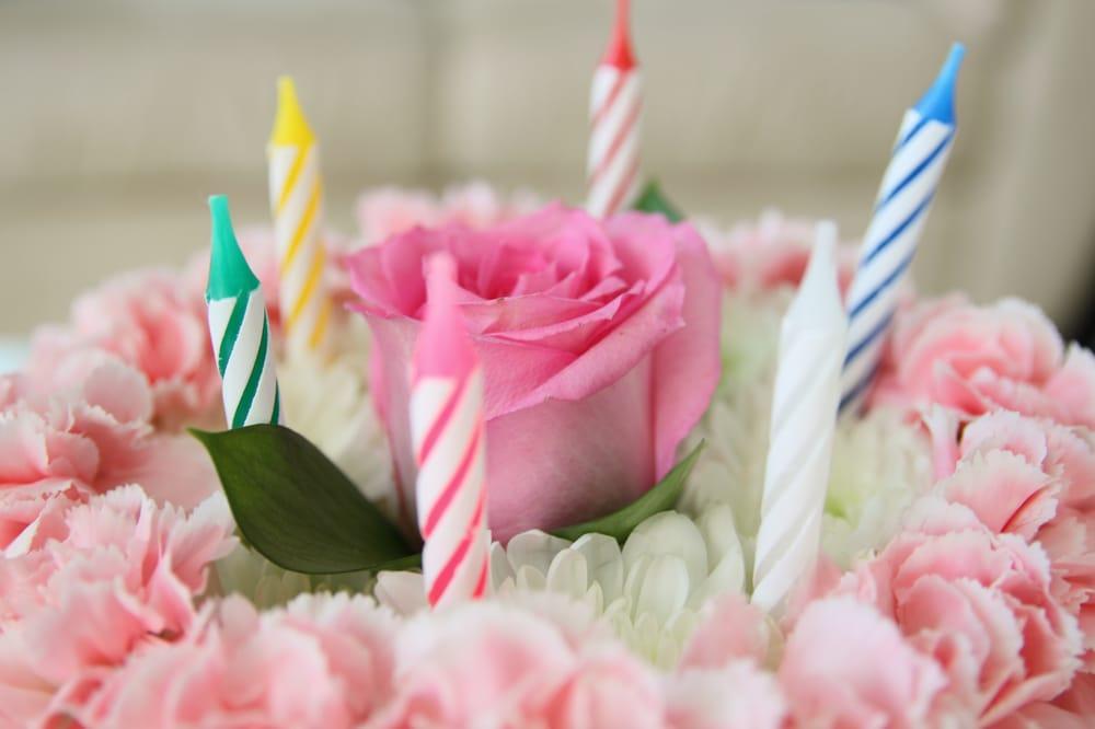 Birthday Flower Cake, pastel: photo by maya manolo photography - Yelp