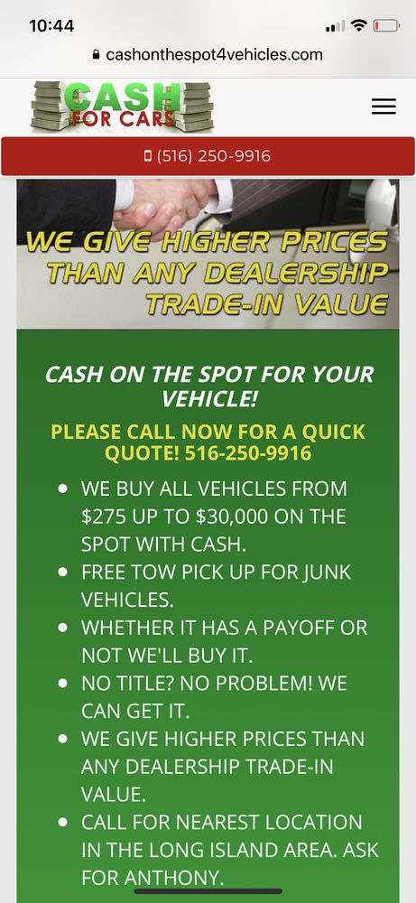 Cash For Cars: 990 Grand Blvd, Deer Park, NY
