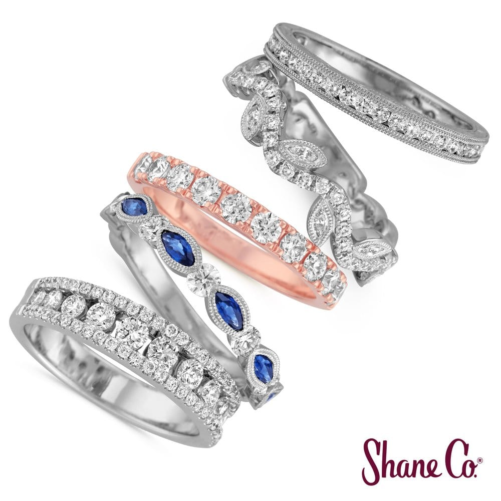 shane company jewelry add an anniversary band from shane co to your jewelry 6528