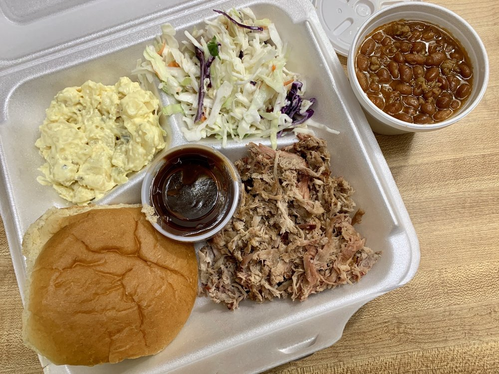 Food from Top Choice BBQ