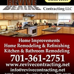 Revive Contracting Contractors Evergreen Rd N Fargo ND - Bathroom remodeling fargo nd