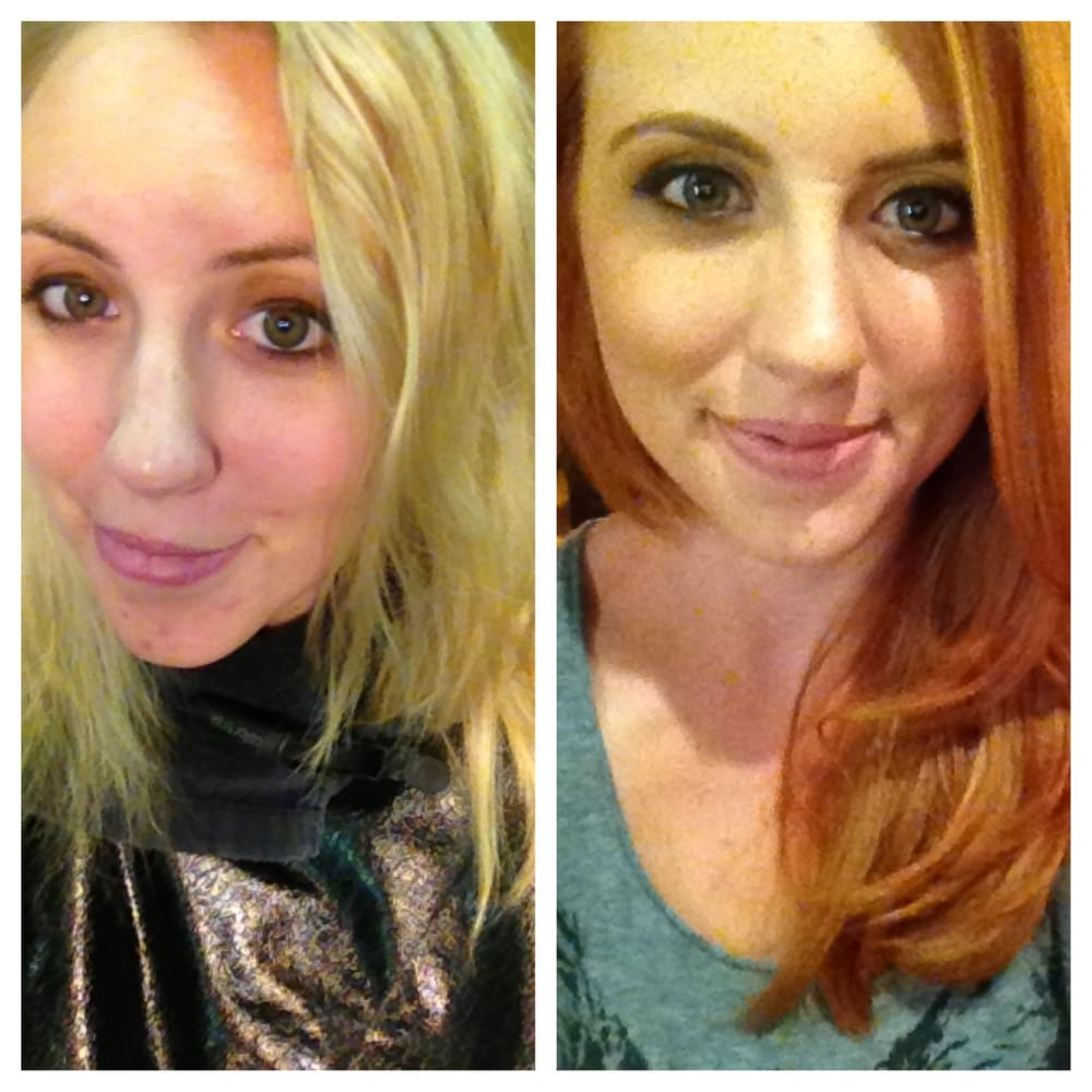 Before And After Color Correction From Blonde To Multiple