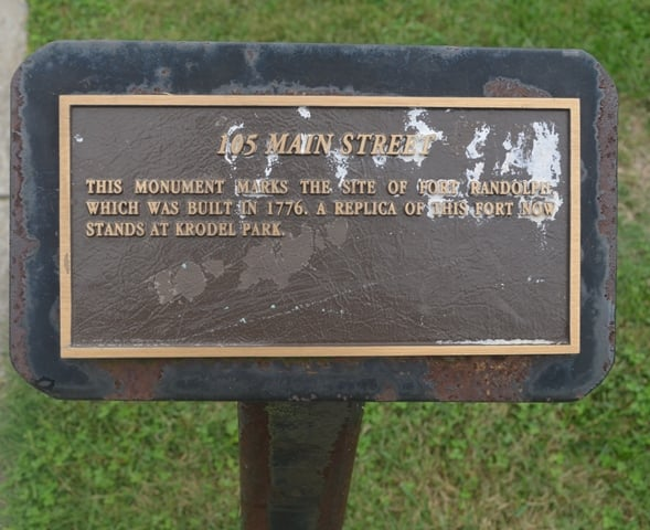 Historic Fort Randolph Monument: 105 Main St, Point Pleasant, WV