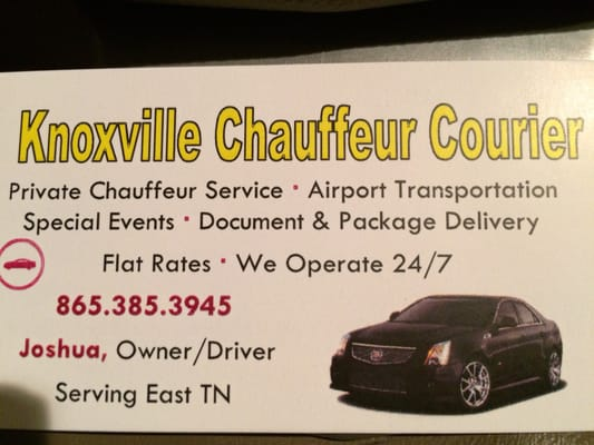 Knoxville chauffeur courier airport shuttles 135 haywood ave photo of knoxville chauffeur courier knoxville tn united states business card colourmoves