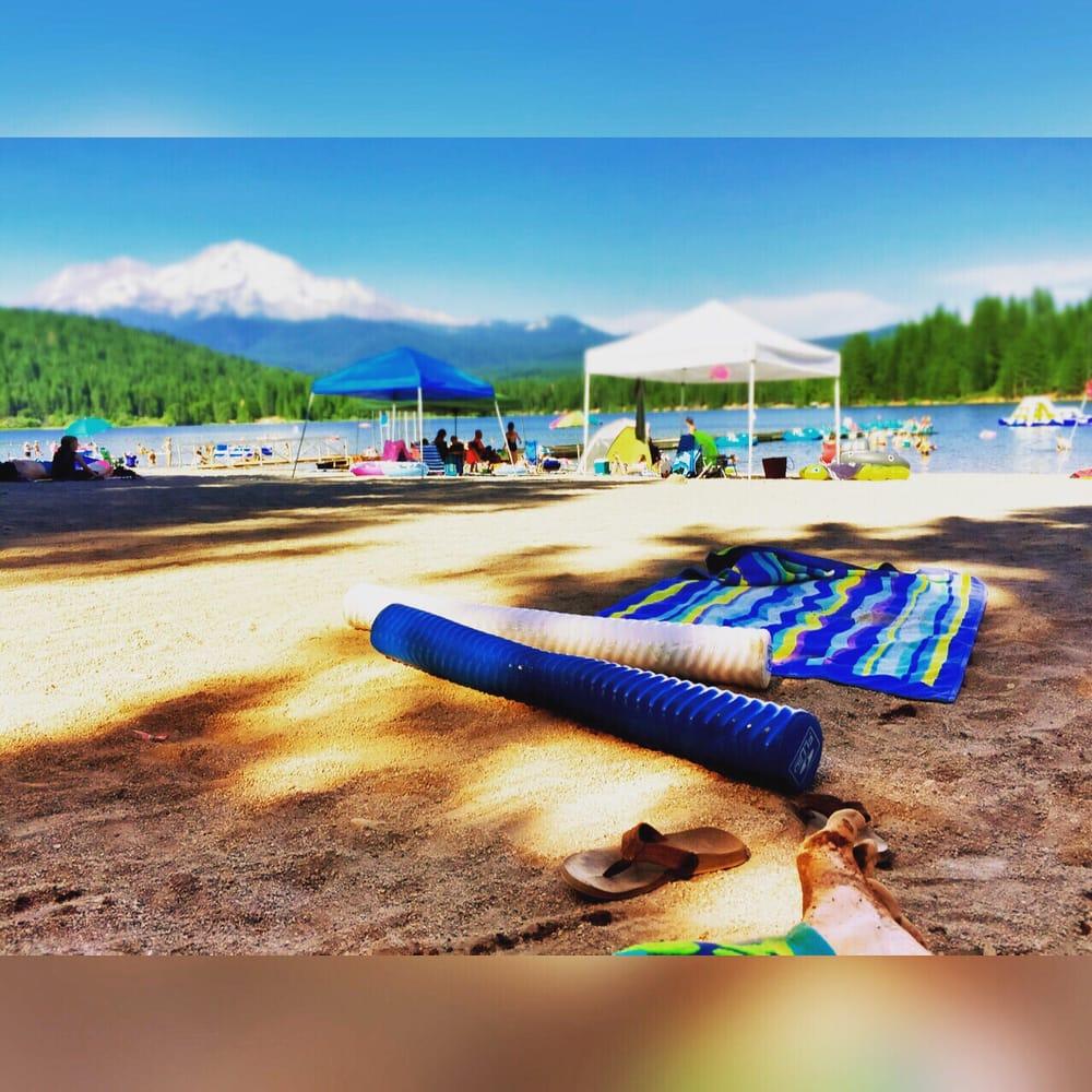 Beach at lake siskiyou resort and campground yelp for Lake siskiyou resort cabins