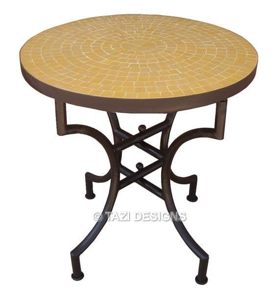 Small bistro mosaic table from morocco handmade from for Table design odessa fl